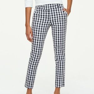 LOFT outlet Modern Skinny Ankle In Gingham Pattern